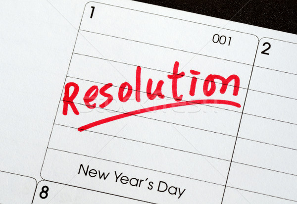 Resolutions for the New Year concepts of goal and objective Stock photo © johnkwan