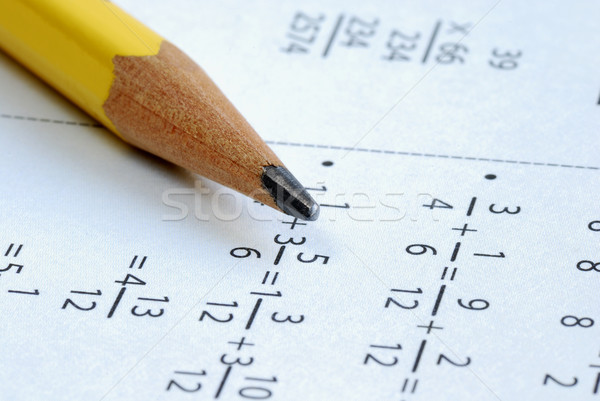 Doing some grade school Math with a pencil Stock photo © johnkwan