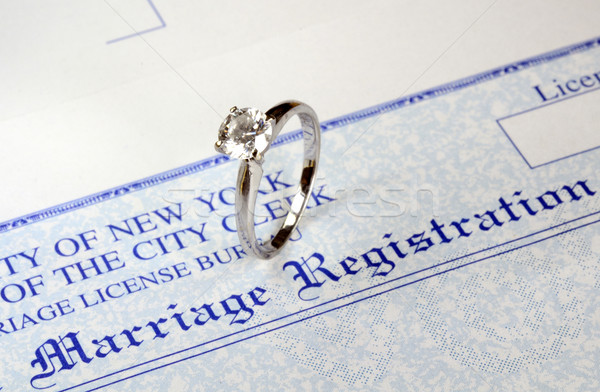 Marriage and money concept of high wedding cost and divorce Stock photo © johnkwan
