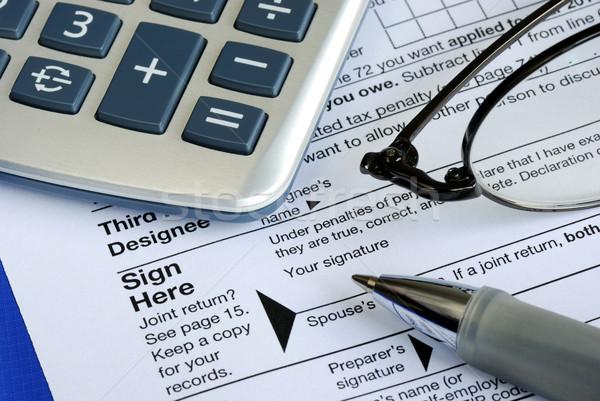 закончить знак доход налоговых возврат изолированный Сток-фото © johnkwan