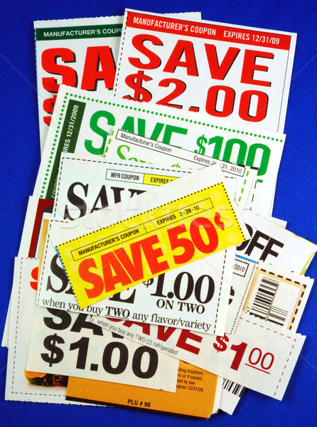 Stack of coupons concepts of saving money  Stock photo © johnkwan