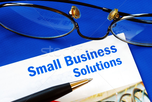 Provide financial solutions and support to Small Business Stock photo © johnkwan