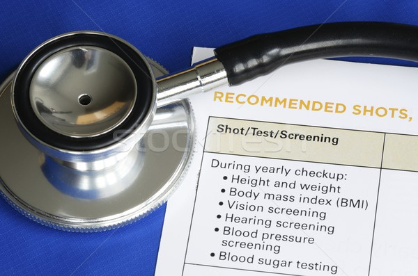 List of medical shots and tests concept of vaccination and immunization Stock photo © johnkwan