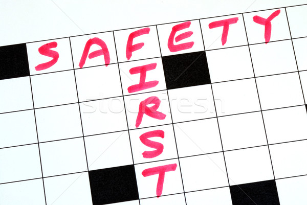 Safety First text in a cross word puzzle Stock photo © johnkwan
