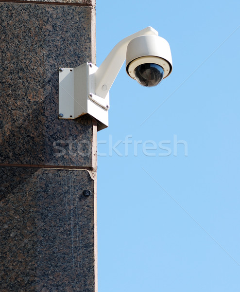Zdjęcia stock: Bezpieczeństwa · inwigilacja · kamery · Błękitne · niebo · działalności · technologii