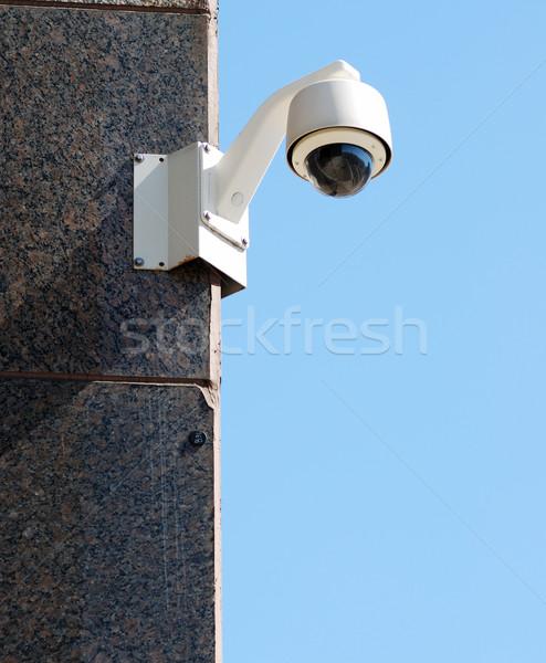 безопасности наблюдение камеры Blue Sky бизнеса технологий Сток-фото © johnkwan