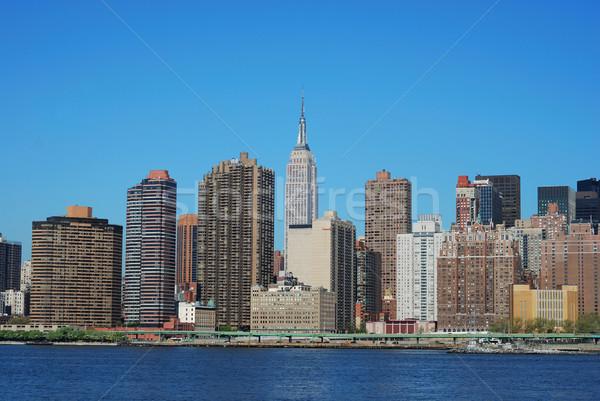 Ufuk çizgisi Manhattan New York iş gökyüzü Bina Stok fotoğraf © johnkwan