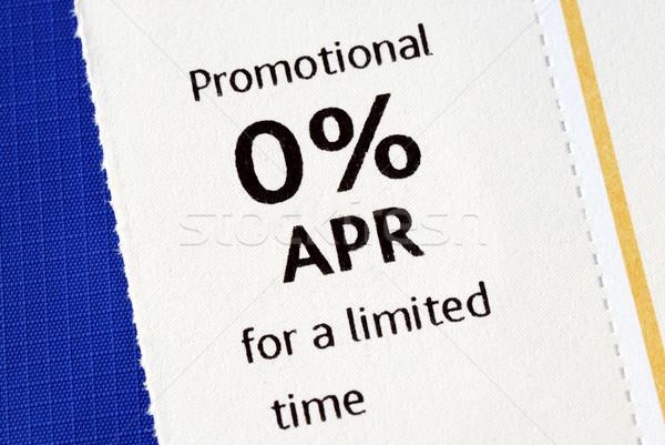 Promóciós ajánlat izolált kék marketing bankügylet Stock fotó © johnkwan
