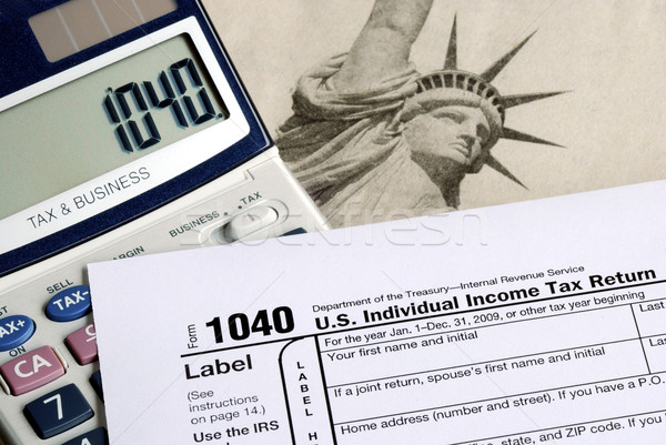 Stock photo: Calculate the tax in the income tax return
