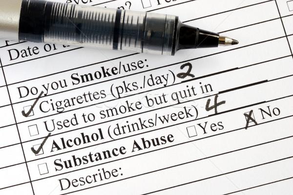 Répondre fumer question médicaux questionnaire santé Photo stock © johnkwan