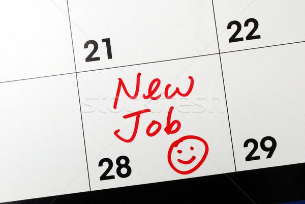 Mark the calendar to go to a new job Stock photo © johnkwan