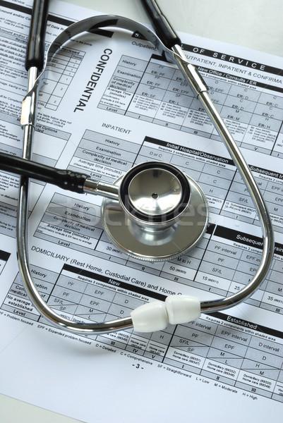 Stok fotoğraf: Stetoskop · tıbbi · denetim · belge · ofis · doktor