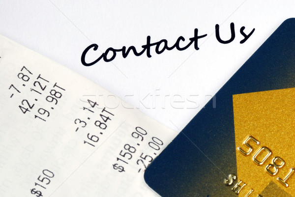 Contact the customer service for online business or credit card related issues Stock photo © johnkwan