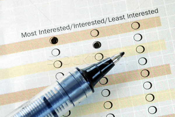 Select the degree of interest in a questionnaire Stock photo © johnkwan