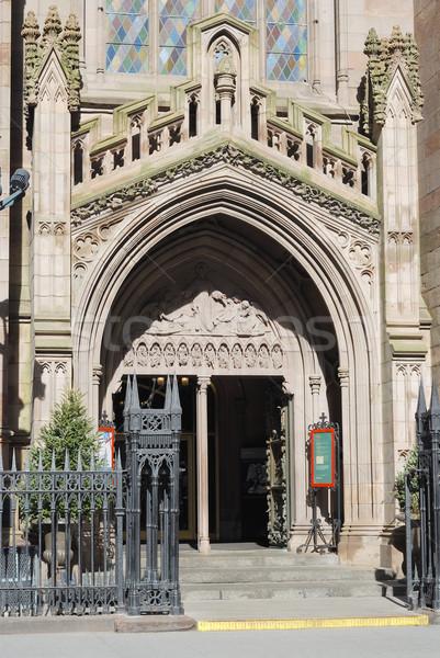 Foto stock: Entrada · velho · igreja · cidade · viajar · arquitetura