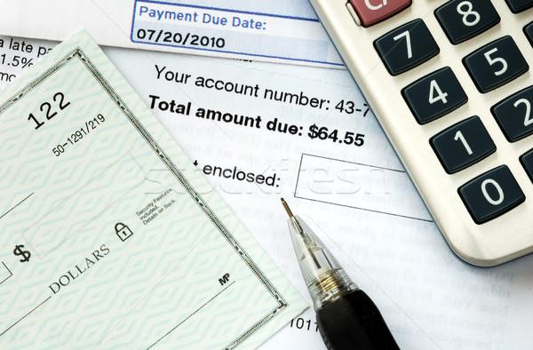 Scrivere verificare tempo soldi Foto d'archivio © johnkwan