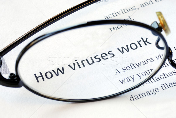 Focus on the fact that how viruses work Stock photo © johnkwan