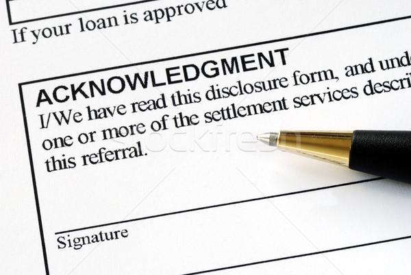 Imzalamak form iş kalem yazı finanse Stok fotoğraf © johnkwan