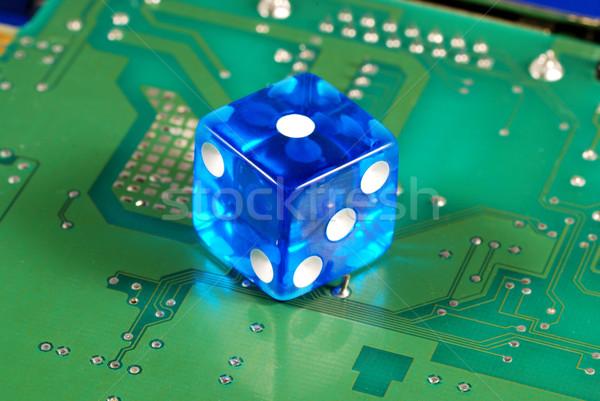 Stock fotó: Kocka · számítógép · alaplap · fogalmak · online · hazárdjáték