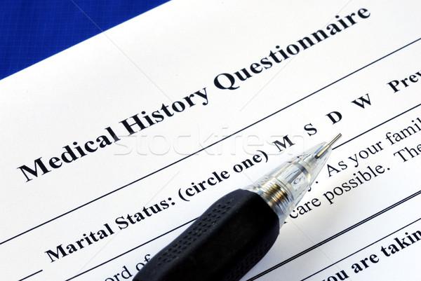 Fichier médicaux histoire questionnaire crayon santé Photo stock © johnkwan