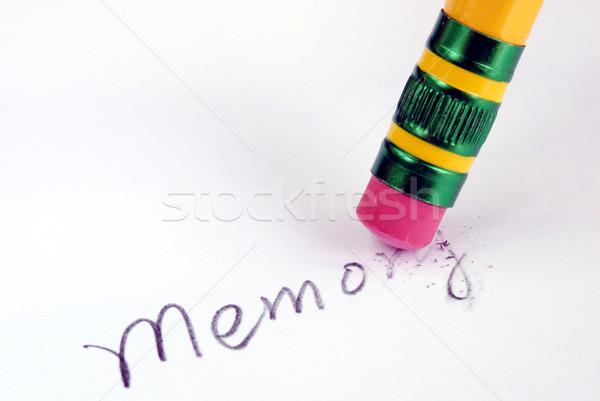 メモリ のような 認知症 悪い 思い出 鉛筆 ストックフォト © johnkwan