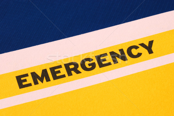 The word Emergency concepts of urgency and risk Stock photo © johnkwan