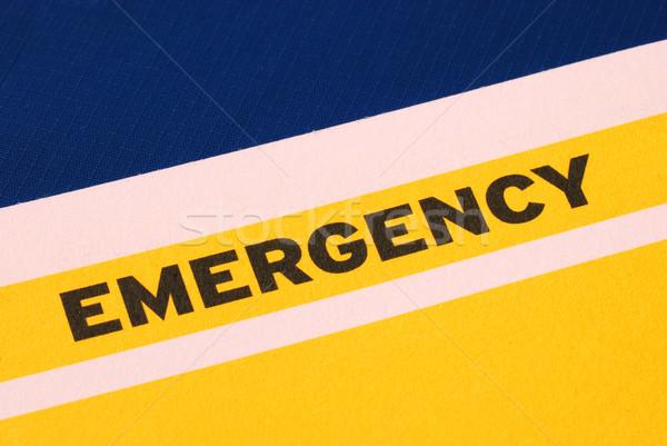Parola emergenza concetti urgenza rischio ospedale Foto d'archivio © johnkwan