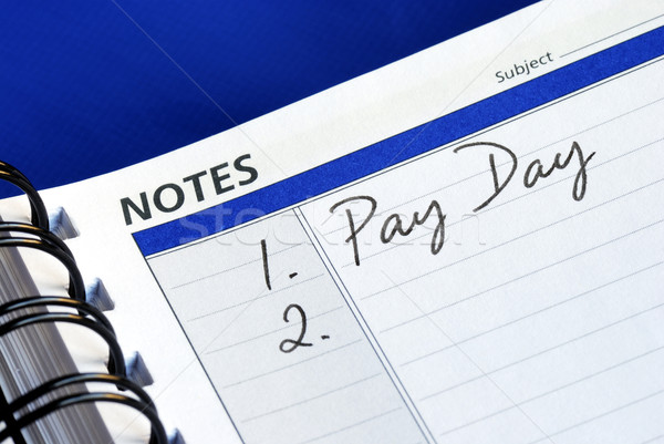 Stock photo: Today is the pay day of the month