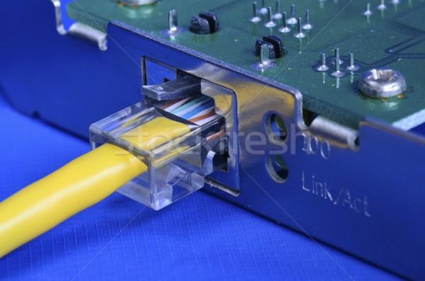 Ethernet кабеля сеть карт связи интернет Сток-фото © johnkwan