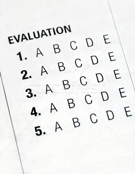 Evaluatie vorm geïsoleerd witte gegevens schrijven Stockfoto © johnkwan