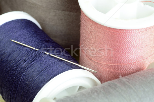 Threads and needles concept of sewing and tailoring Stock photo © johnkwan