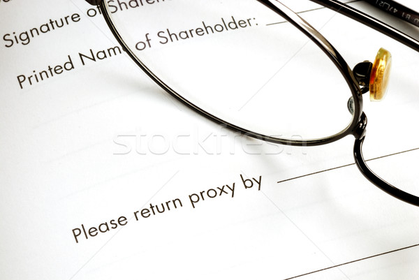 Return the proxy of a business meeting Stock photo © johnkwan