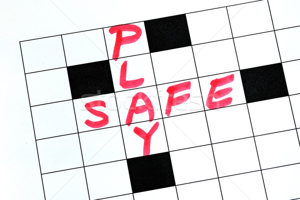 Play Safe text in a cross word puzzle Stock photo © johnkwan