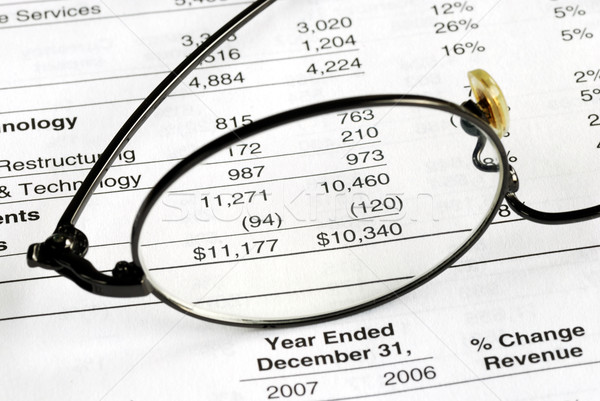 Audit the company balance sheet and financial statement Stock photo © johnkwan