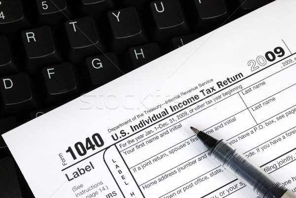 Filing the income tax return online is easy Stock photo © johnkwan
