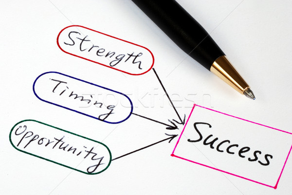 Strength, Timing, and Opportunity are the elements to Success Stock photo © johnkwan