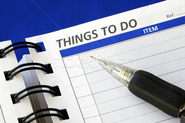 Сток-фото: написать · вниз · вещи · ноутбук · бумаги · календаря