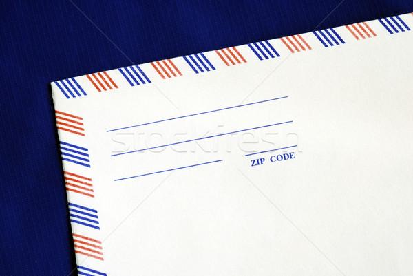 Luchtpost envelop geïsoleerd Blauw business kantoor Stockfoto © johnkwan