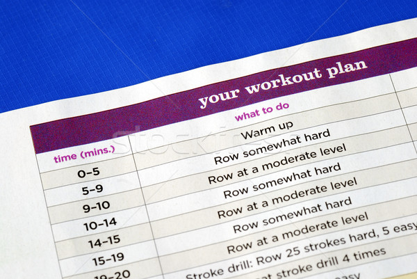 Stock photo: Follow the work out plan to keep fit