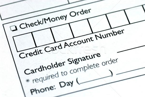 Fill in the credit card information in an order form Stock photo © johnkwan