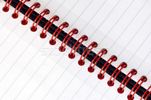 A fragment of the spiral note pad  Stock photo © johnkwan