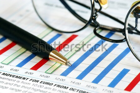 Focus buitenlands uitwisseling business charts Stockfoto © johnkwan
