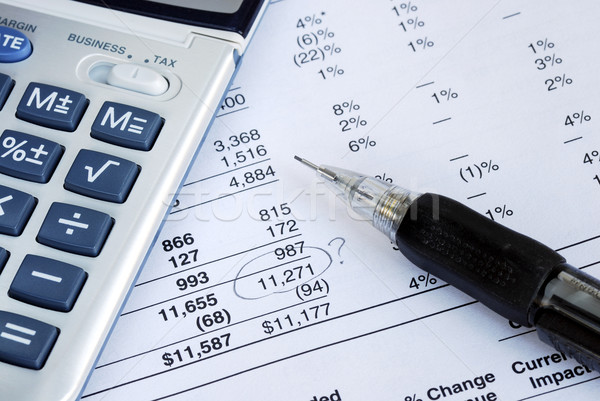 Find a mistake when auditing the financial statement Stock photo © johnkwan