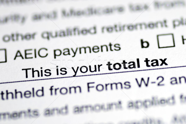 Focus on the total tax in the income tax return Stock photo © johnkwan