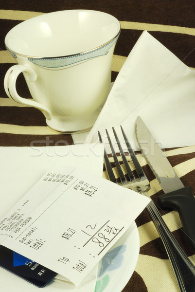 Stock photo: Pay the dinner bill in a restaurant