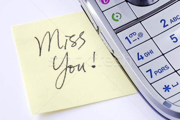 I miss you and want to call you Stock photo © johnkwan