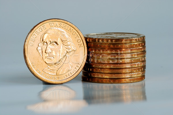 Stack of United States Dollar coins Stock photo © johnkwan