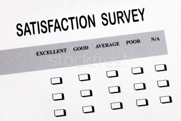 Fill in the customer satisfaction survey Stock photo © johnkwan