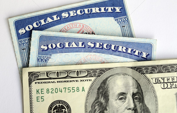 Social Security and retirement income concept of financial planning Stock photo © johnkwan