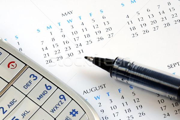 Calendario appuntamento calendario pen mobile Foto d'archivio © johnkwan
